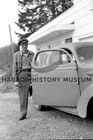 Herb Shuey at home in East Gig Harbor