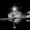 Arvilla Ann and Sally Ann, Trollers at Pen Yacht Basin at night