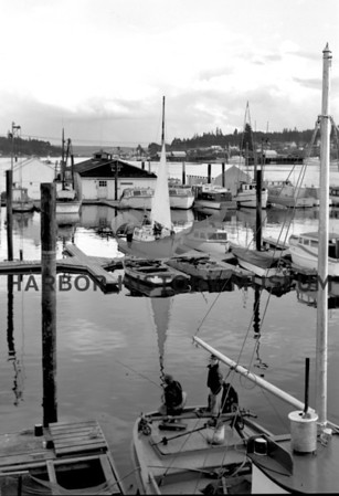 View of Pen Yacht Basin and small boats