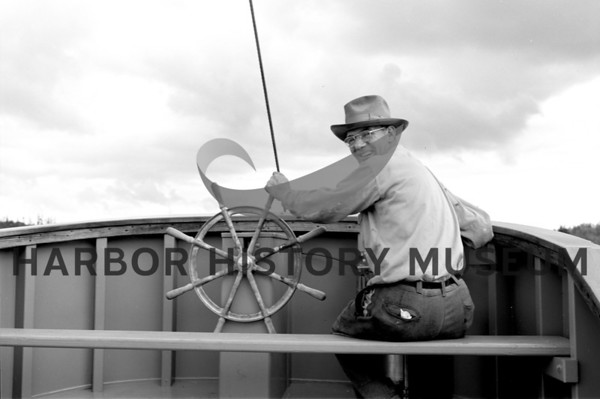 George Greene at the helm of Mi Lady