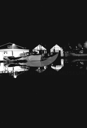 Night Scene at Pen Yacht Basin;