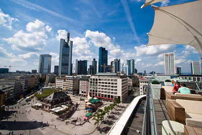 View from roof terrace of Galeria Kaufhof, Frankfurt