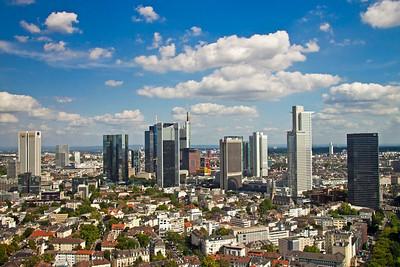 City view from Marriott Hotel, Frankfurt