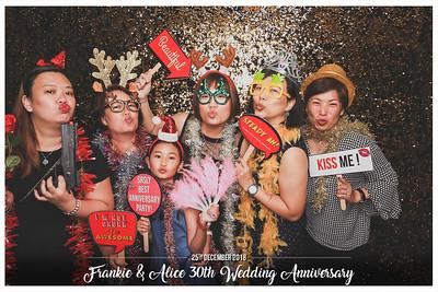 Frankie & Alice 30th Wedding Anniversary | © www.SRSLYPhotobooth.sg