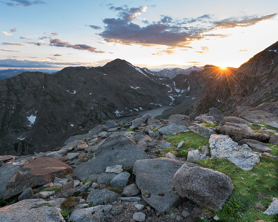 Sunset Mt. Evans Wilderness, Mt. Evans Road, Colorado
