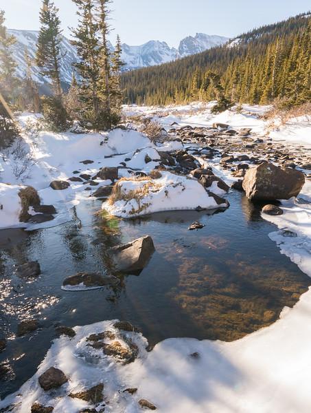 Snow Stream | Rocky Mountain Landscape Photography