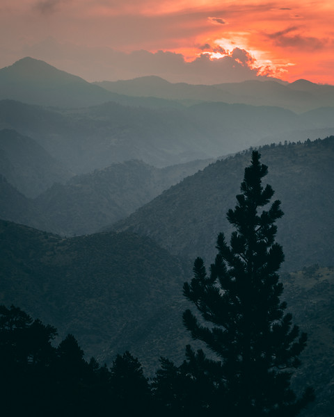 Fire Sky | Rocky Mountain Landscapes Lookout Mountain
