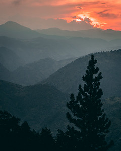 Fire Sky   Rocky Mountain Landscapes Lookout Mountain