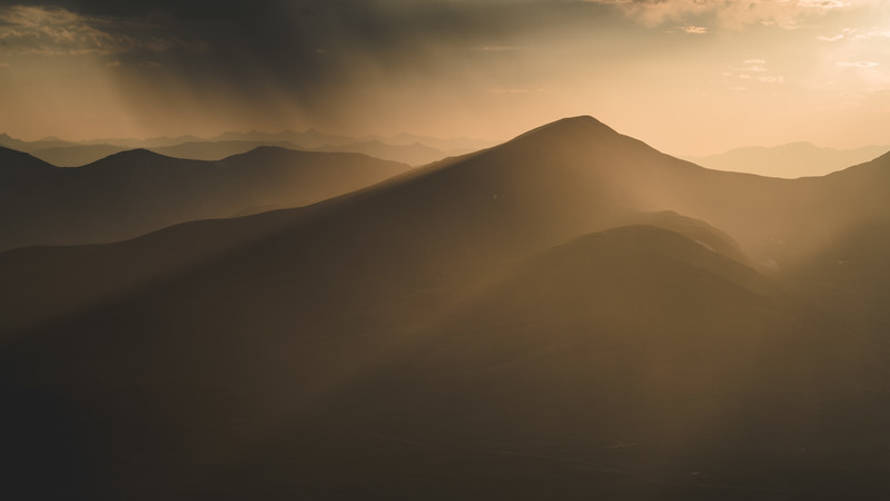 Hazy Sunset | Rocky Mountain Landscapes Mount Evans Summit