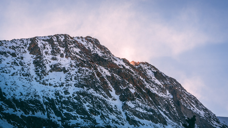 Snow Covered Mountain Peaks | Rocky Mountain Landscapes Mount Audubon
