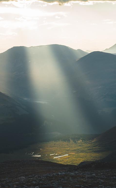 Heavenly Light   Rocky Mountain Landscape Photography