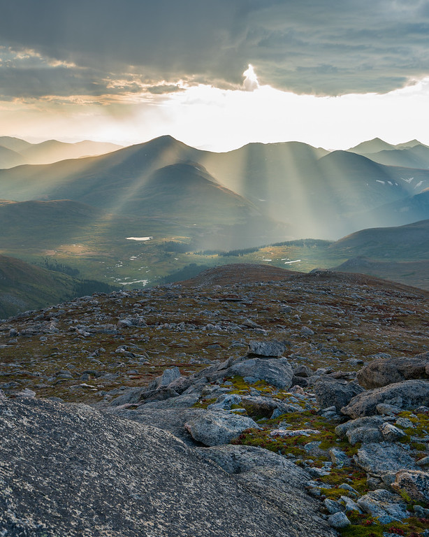 Sun Rays  | Rocky Mountain Landscapes Mount Evans