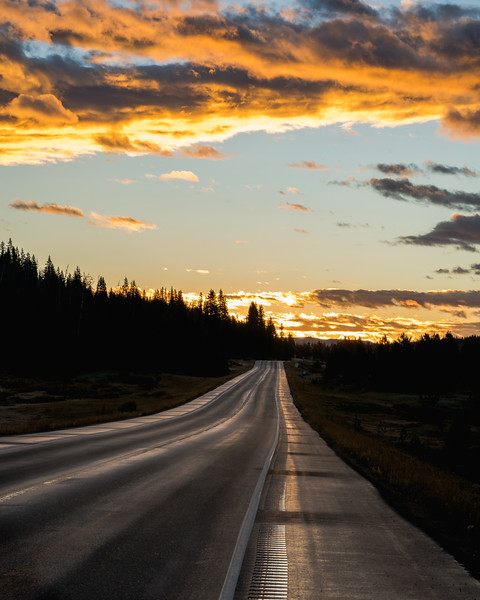 Gold Skies Open Road | Rocky Mountain Landscapes Rabbit Ear Pass