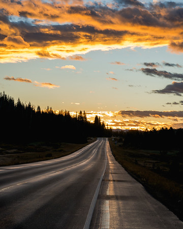Frankieboy Photography |  Gold Skies Open Road | Rocky Mountain Landscapes Rabbit Ear Pass