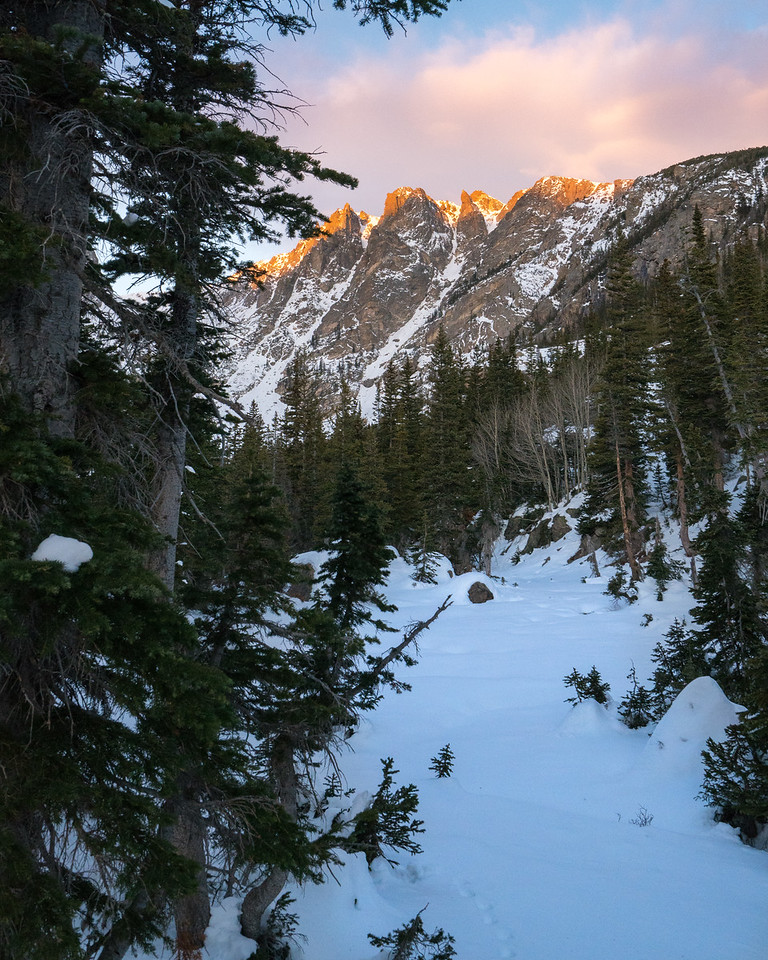 Sunset Kiss   Rocky Mountain Landscapes Dream Lake Peaks