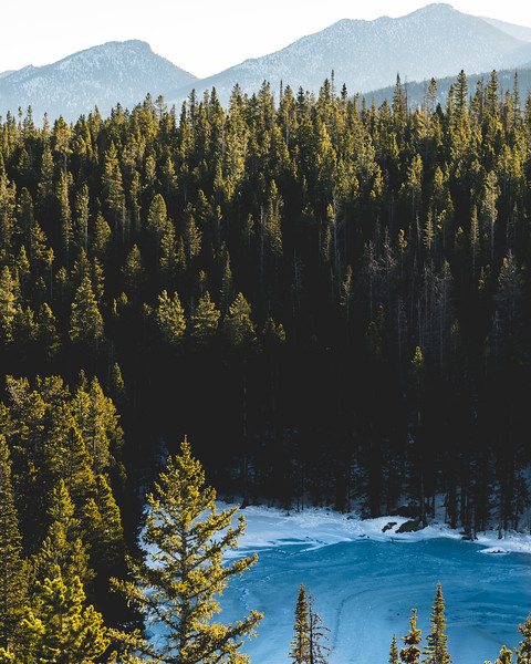 Frankieboy Photography |  Frozen Blue |  Rocky Mountain Landscapes Nymph Lake