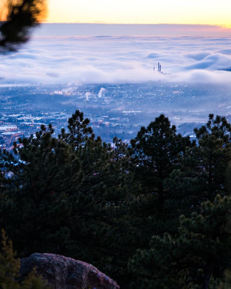 Cloud Inversion Blue Hour