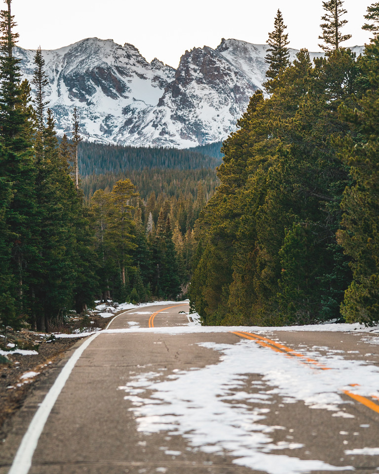 Snow Coated Mountain Top | Indian Peaks Wilderness Colorado