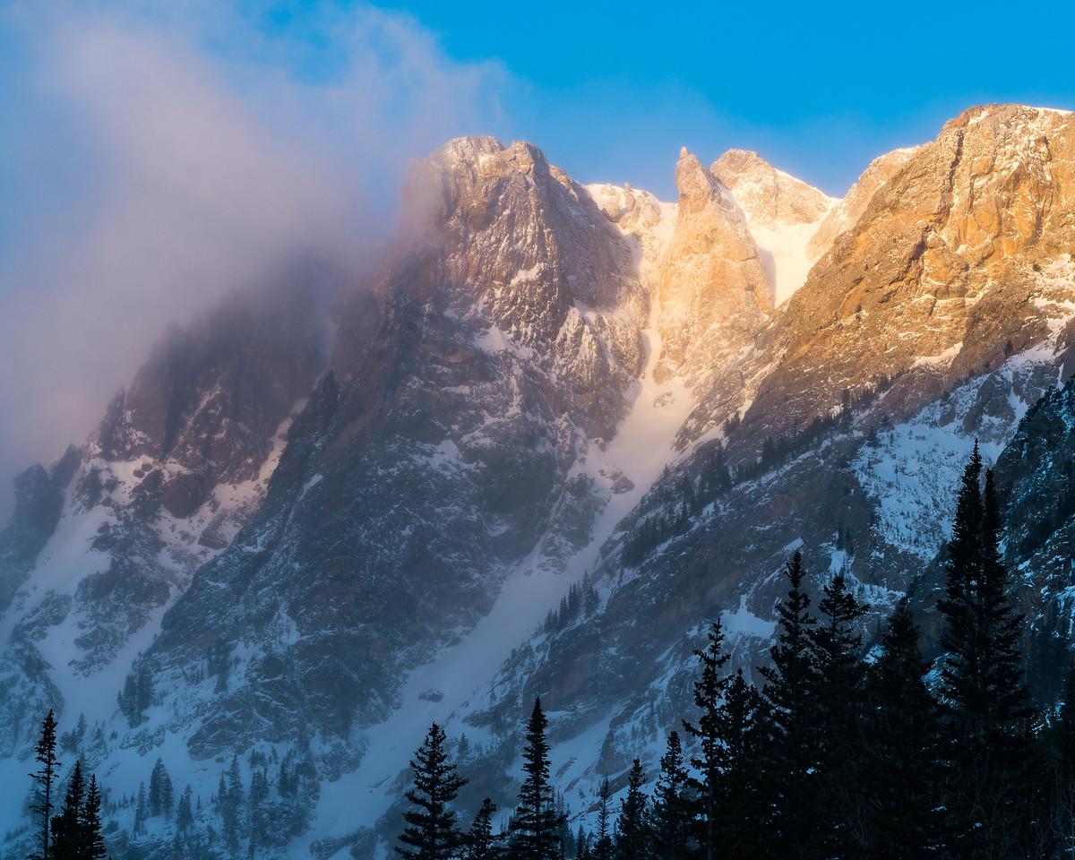 Alpine sunrise Dream Lake Views, Rocky Mountain National Park