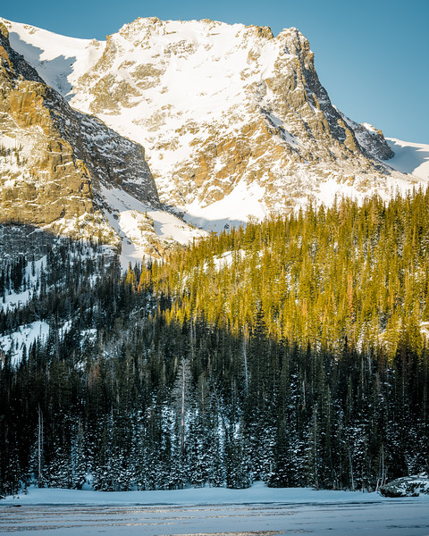 Frankieboy Photography |  Jagged Crevices Softened By Snow | Rocky Mountain National Park Colorado