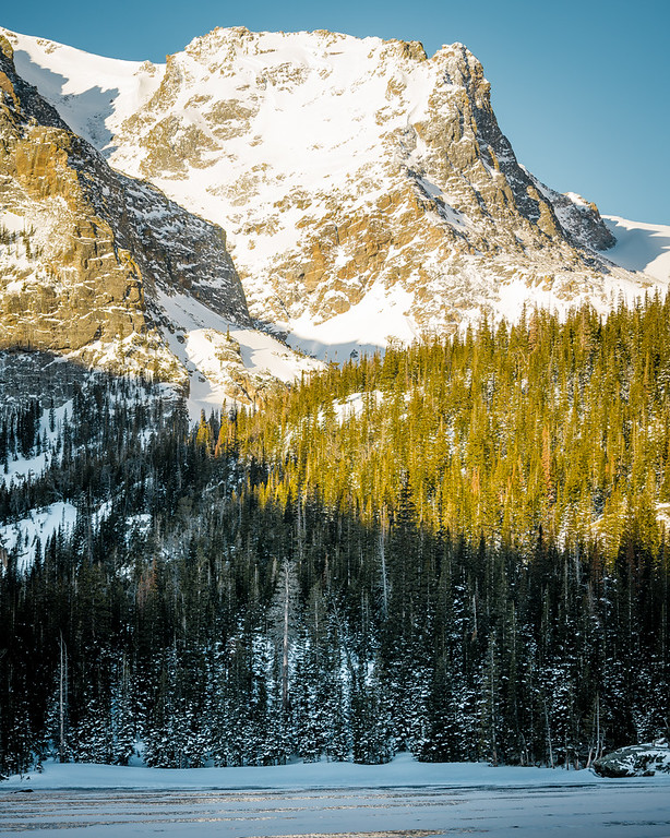Jagged Crevices Softened By Snow | Rocky Mountain National Park Colorado