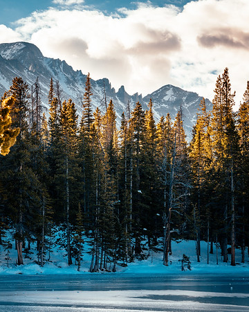 Frankieboy Photography |  Frozen Nymph Lake | Rocky Mountain National Park Colorado