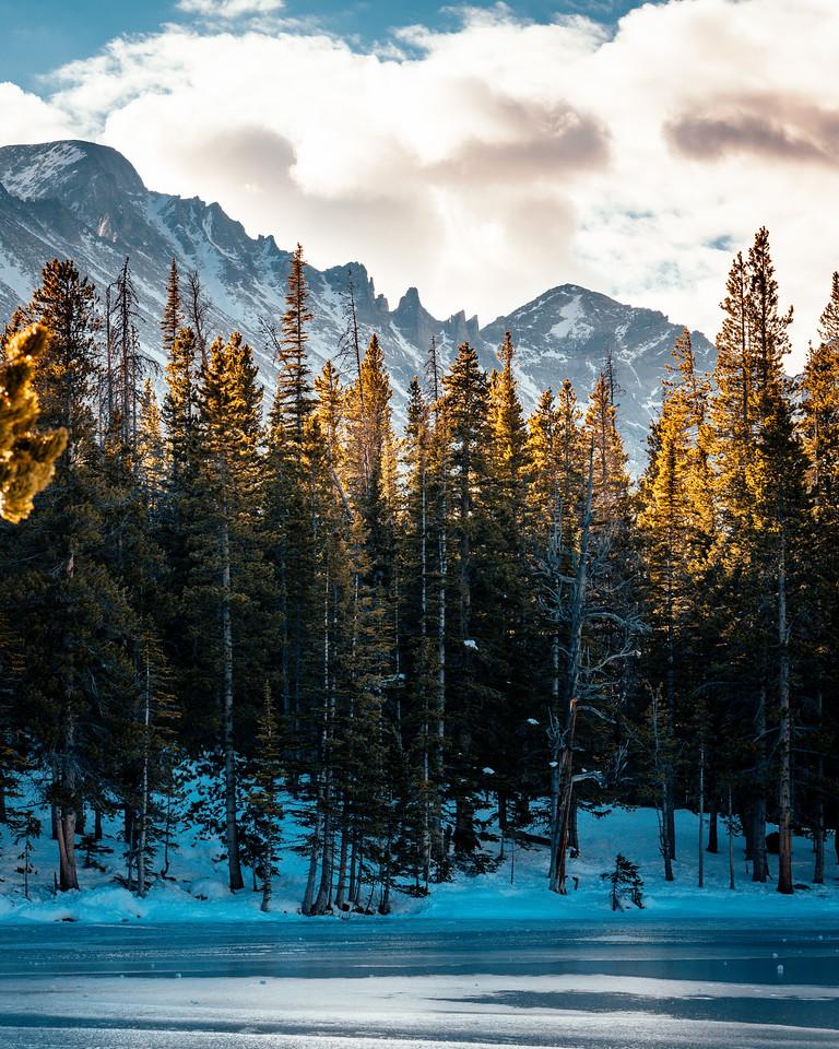 Frozen Nymph Lake   Rocky Mountain National Park Colorado