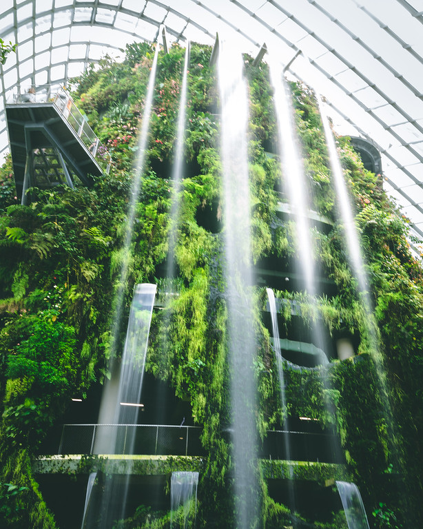 Tallest Indoor Waterfall | Travel Photography Explore Singapore
