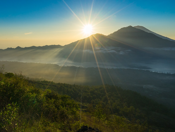 View on top Mt. Batur