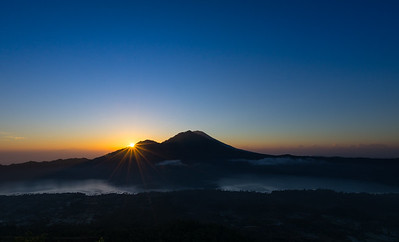 Frankieboy Photography |  Volcano Silhouette And Colorful Sunrise Over Ubud | Travel Photography Exploring Indonesia