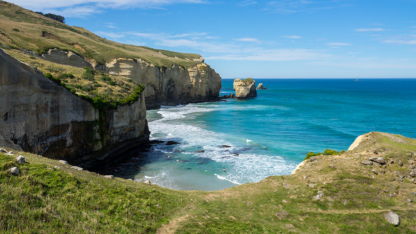 Tunnel Beach, Coasts of Dunedin, New Zealand