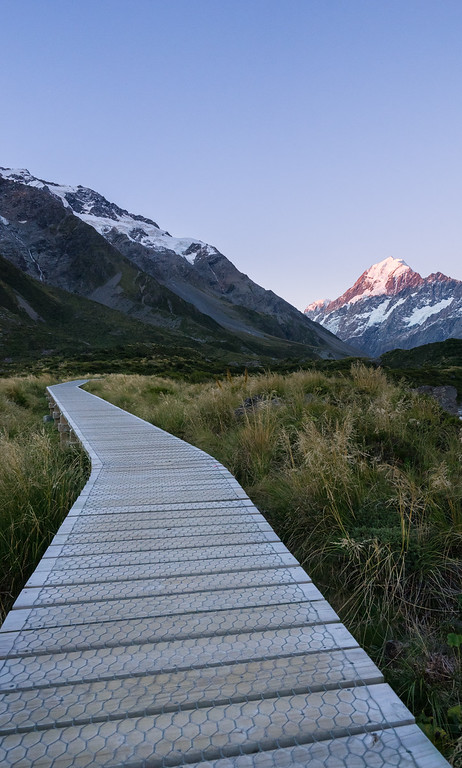Hooker Valley Track Platform Sunset