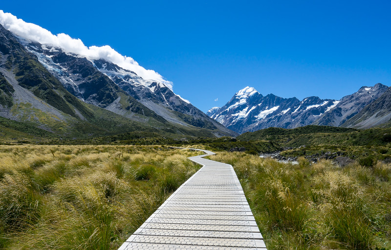 Hooker Valley Hike, Aoraki Mt. Cook, New Zealand