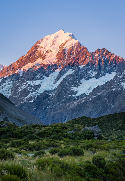 Frankieboy Photography |  Pink Alpine Glow Aoraki Mt. Cook, New Zealand