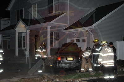 Franklin Square F.D. MVA w/ Car Into House 168 Caroline Ave. 9/6/13