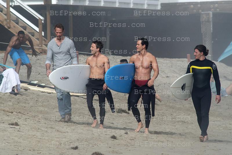 Franklin & Bash Filming In Malibu