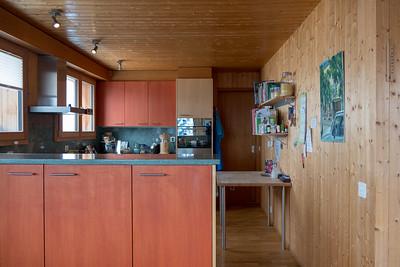 Küche vom Esszimmer her gesehen