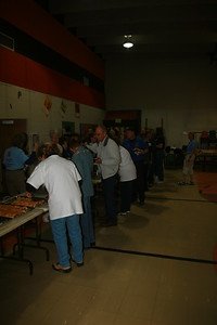 Our 110 volunteers enjoy a bit of a feast following a very busy Fraser 9HealthFair