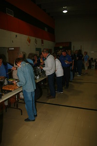 Our Wonderful volunteers including Joyce Engel, Bob Temple, EMS Chief Ray Jennings and others enjoy the food after the Fraser 9HealthFair