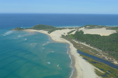 Waddy Point from the air, on a glorious blue day.