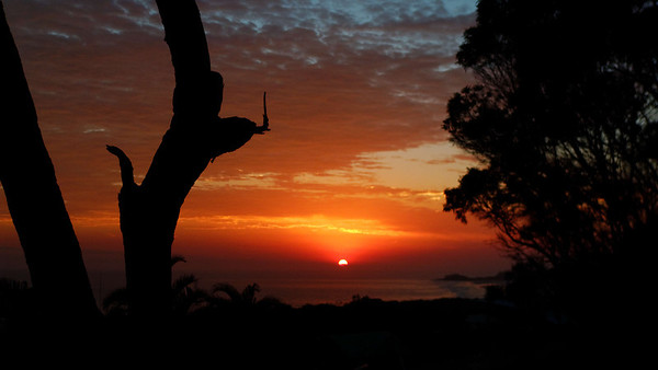 Dawn over Waddy Point, from the front verandah of the house. Views to die for!