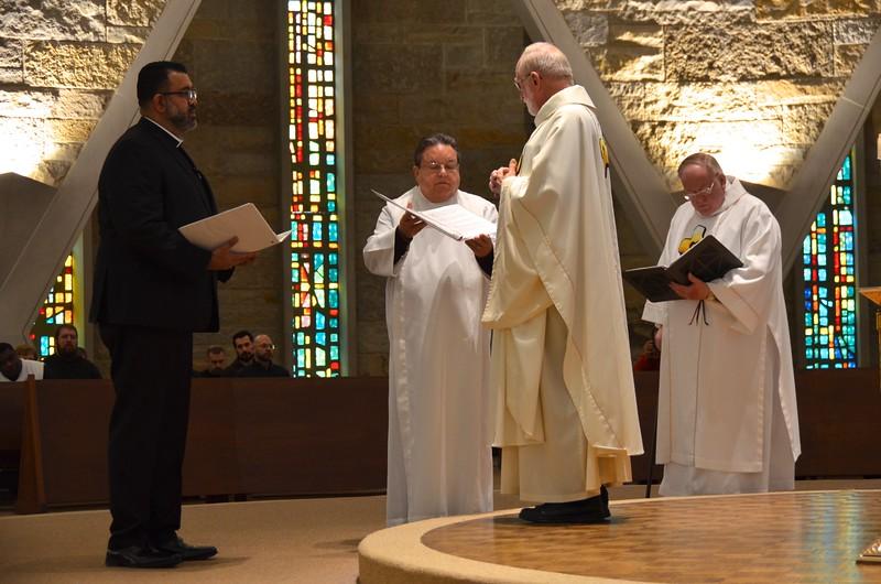 Fr. Ed receives Frater Juancho's profession