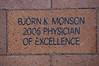 BJORN K. MONSON<br /> 2006 PHYSICIAN <br /> OF EXCELLENCE