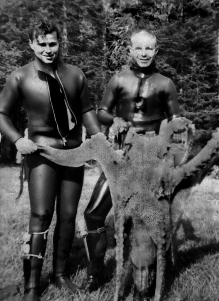 Antrobus Fred III and octopus enhanced early 1960's