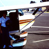 About 1982 were home and rented a plane to fly over Mt. St. Helens.  Judy Lyons went with us.  Shirley is at the door.