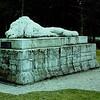 The fallen lion memorial.