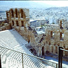 The grand Theater at the foot of the Acropolis.  1968