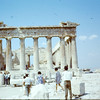The Parthenon, Athens, 1968.  We saw the facade of the temple in the British National Museum later.