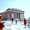 Dorothy Antrobus and the Parthenon.  1968