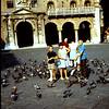1967  Piazzo Dei Signori.  The Kids are feeding the peogens in Verona.